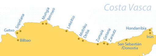 Mapa de Costa Vasca