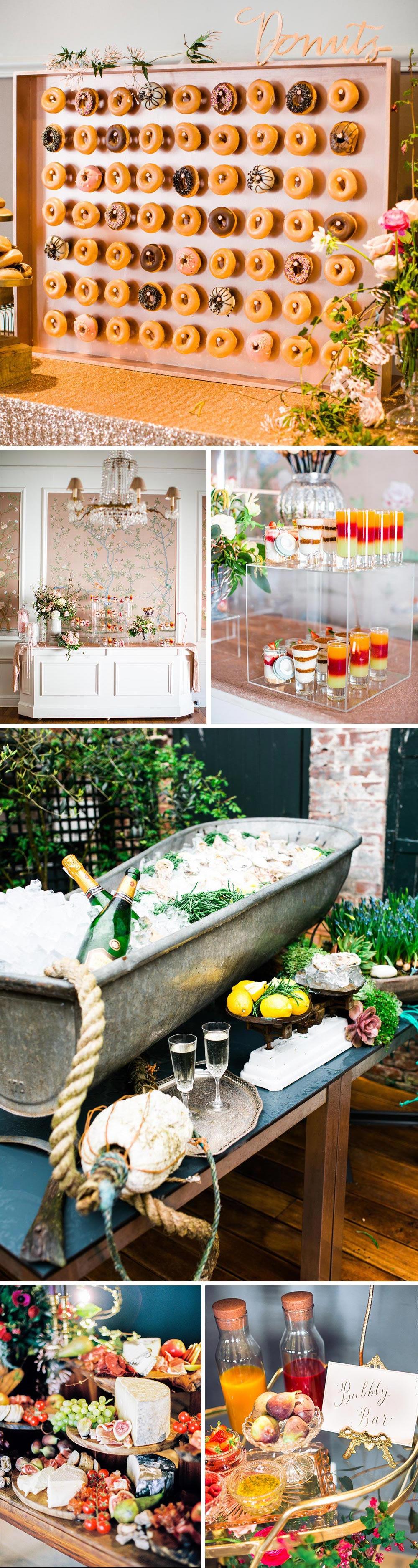 Barra de alimentos - Ideas inusuales de catering para boda.